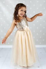Sequins flower girl dresses Pageant Dress Party dress Baptism Dress