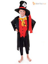 Boys Mad Hatter Costume Kids Child Book Week Alice In Wonderland Fancy Dress