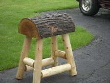 (1) Authentic Western Horse Saddle Bar Stools Barstools Decor Counter Rustic Log