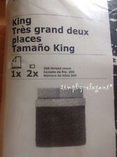 New IKEA ALPNARV DUVET Cover Quilt COVER Set Twin Full / Queen King Black White