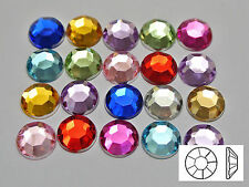 "200 Acrylic Round Flatback Rhinestone Gems 10mm(3/8"") Pick Your Color"