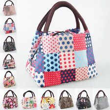 New Women Outdoor Canvas Lunch Casual Handbag Picnic Totes Carry Bag Box Storage