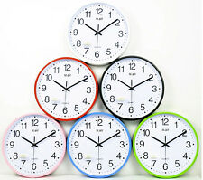 silent time wall clock non ticking accurate simple design shabby chic kitchen clock Kitchen Clocks Amazon