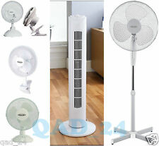 "16"" 9"" 6"" INCH PEDESTAL OSCILLATING STAND DESK FANS ELECTRIC STANDING TOWER HOME"