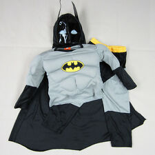 Boys Kids Muscle Superhero Batman Cosplay Fancy Dress Outfit Costume 2-7 Years