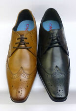 SALE London Base Waxy Leather Fashion Brogues Charles MTO 2 colours available