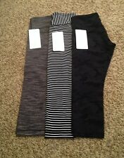 NWT Lululemon Wunder Under Crops - SZ 6 Wee Are From Space WAFS Cashew