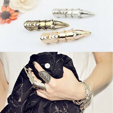 Fashion Retro Vintage Rock Punk Joint Armor Knuckle Full Finger Metal Rings New