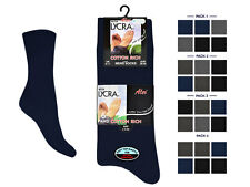 Mens Cotton Rich dark colour Socks LYCRA PURISTA Size UK 6-11 (6 OR 12 PAIRS)