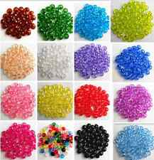 Rondelle Bicone Acrylic Spacer Loose Beads Charms Finding 6 mm U Pick 15 Colors