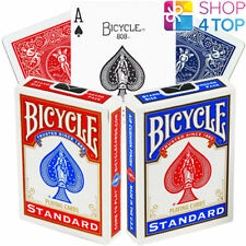 BICYCLE RIDER BACK STANDARD INDEX POKER PLAYING CARDS MAGIC TRICKS RED BLUE NEW