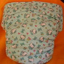 AIO (All In One) Adult Baby Reusable Cloth Diaper S,M,L,XL Hello Kitty Baby/Blue