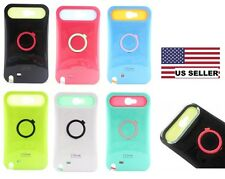 iGlow Dual Color Ring Stand Plastic Cover Case Samsung Galaxy Note 2 N7100