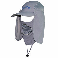 Removable UV Protection Face Hat Hiking Fishing Hat Big Wide Brim Neck Flap Cap