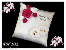 ~ Personalised wedding rings cushion pillow with rings holder ~