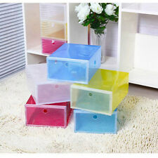 New Style Foldable Plastic Transparent Drawer Case Shoe Storage Stackable Box