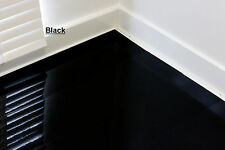 BLACK High Gloss Laminate Flooring - Designer finish