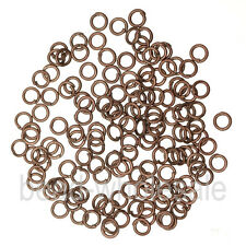 Silver/Gold Plated Open Metal Jumping Rings Finding 3 sizes Flexiable Pick
