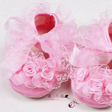 Soft Child Baby Girl Flower Princess Shoes White Pink Color US Size 4 5 6