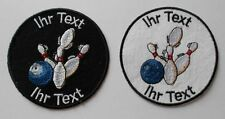 Bowling patch with your text 10cm embroidered logo (27)