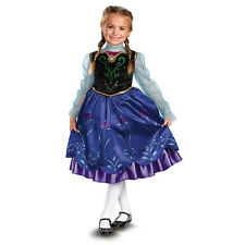 Girls Toddler Anna Disney Frozen Movie Child Deluxe Princess Costume Dress NEW