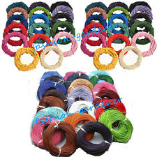 Wholesale Multi-color Real Leather Necklace Charms Rope String Cord 1.5/2.0mm