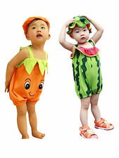 Baby Toddler Watermelon Persimmon Pattern Jumpsuit Outfit Halloween Fancy Dress