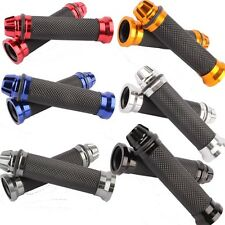 UNIVERSAL CNC MOTORCYCLE BIKES HANDLE BAR RUBBER GEL HAND GRIPS BAR END CAP PLUG