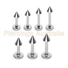 3 x 316L Surgical Steel Spike Labret Lip Bar Rings Monroe Piercing Jewellery