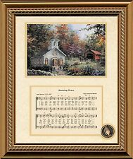 Amazing Grace Song with Church Christian Inspirational Art Framed Decor Gift
