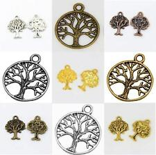 Tibetan Style Tree of Life Charms Pendants Jewellery Making in packs of 10 or 20