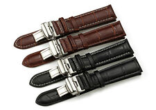 18mm Genuine Leather Alligator Grain Replacement Watch Bands Strap for Invicta