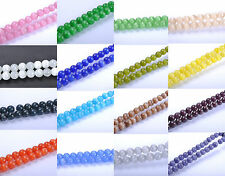 50/200pcs New Round Cat's Eye Opal Loose Beads 4/6/8/10mm Freedom Pick