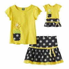 Dollie & Me Girl 5-14 and Doll Matching Skirt Outfit Clothes fit American Girl