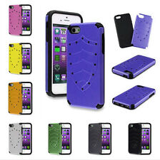 2IN1 Hybrid Glossy Hard Shield Case Skin Silicone Cover For IPhone 4 4S / 5 5S