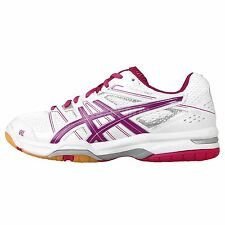Asics Gel-Rocket 7 White Fuchsia Gum 2014 Womens Volleyball Badminton Shoes