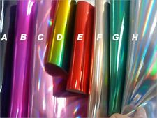 Half Yard Holographic Laser Leather Fabric,Shiny Holographic Leather PU Wide54''