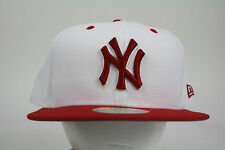 New Era New York Yankee White-Red 59FIFTY Cap Fitted ALL SIZES