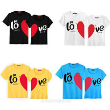 2014 Fashion Unisex Lovers Couple LOVE Sweetheart Short Sleeve T-shirts Tops Tee