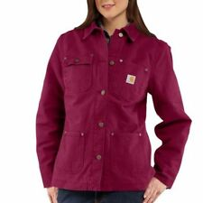 Carhartt 100672 Women's Quinwood Weathered Chore Coat - Flannel Lined