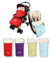 Baby Winter Footmuff Sleeping Bag, Quality, Warm & Fur Lining Stoller Pushchair