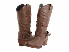 NIB!! Dingo Womens PRETENDER Round Toe Slouch Western Boots Brown Leather DI8526