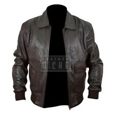 The Last Stand Arnold Schwarzenegger Genuine Brown Bomber Leather Jacket
