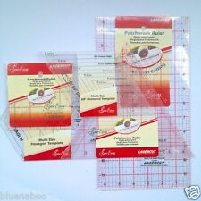 Sew Easy quilters patchwork squares rectangles triangles hexagons various sizes