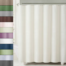 2-in-1 Water Repellant 70 x 72 Polyester Fabric Shower Curtain/Liner 11 Colors