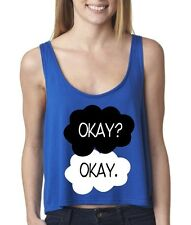 New OKAY? OKAY the fault in our stars FLOWY Boxy WOMEN TANK-TOP side open shirt