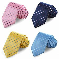 Cheap Blue/Yellow/Pink Classic Mens Polka Dot Tie Suits Necktie Wedding Party