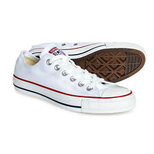 Converse White All Stars Ox Trainers Chuck Taylor Low CTAS UK Canvas New Shoes