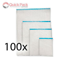 100 x Plain Self Seal Bubble Wrap Bags / Pouches Clear - All Sizes Available!