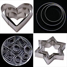 Star Stainless Fondant Cake Cookie Cutter Sugarcraft Biscuit Decorating Mold Set